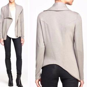Helmut Lang Villous Sweatshirt Asymmetric Jacket S